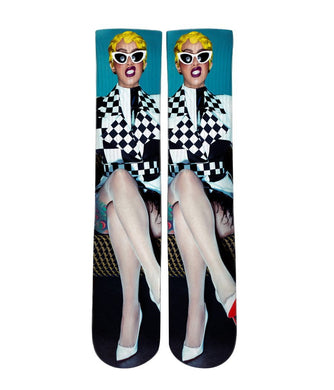 Cardi B Elite printed crew socks