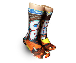 Coco Puffs cereal Elite crew socks elite socks- athletic customized socks