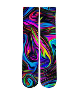 Rainbow dream Elite printed crew socks - Dope Sox Official-Elite custom socks