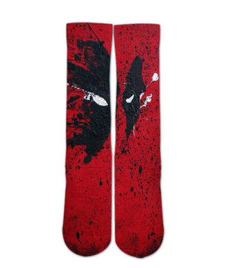 Dead Pool Printed socks - Dope Sox Official-Elite custom socks