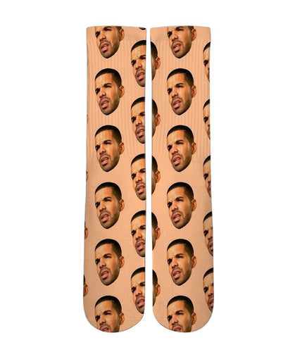 Drake Meme mash up Elite printed crew socks - Dope Sox Official-Elite custom socks