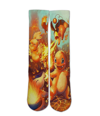 Charmander elite socks - Dope Sox Official-Elite custom socks