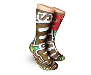 Chocolate M&M's Elite sublimated socks - Dope Sox Official-Elite custom socks
