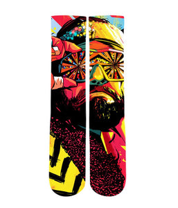 Macho Man Randy Savage Elite sublimated socks - Dope Sox Official-Elite custom socks