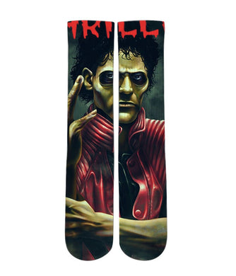 Micheal Jackson Thriller art socks elite socks- athletic customized socks