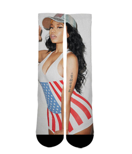 Nicki Minaj elite socks - Dope Sox Official-Elite custom socks