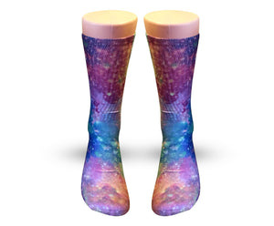 Purple Nova galaxy socks - Elite sublimated crew socks - Dope Sox Official-Elite custom socks