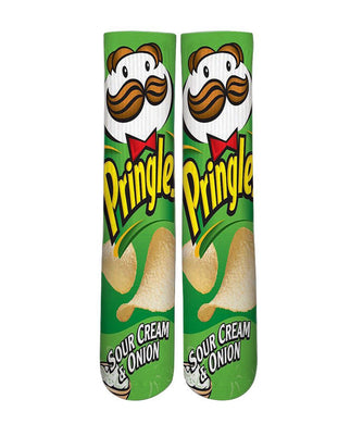 Pringles sour crean & onion printed crew socks - Dope Sox Official-Elite custom socks