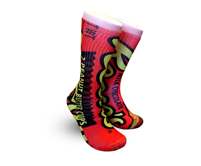 Reese's Peanut butter cup socks - Dope Sox Official-Elite custom socks