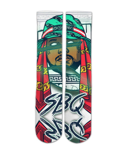 School Boy Q elite socks - Dope Sox Official-Elite custom socks