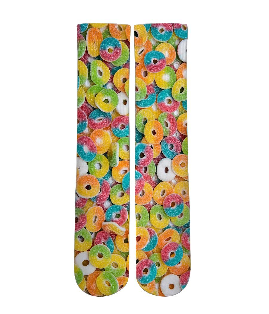 Sour Gummi Ring candy Elite printed crew socks - Dope Sox Official-Elite custom socks