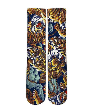 Versace Inspired tiger pattern printed graphic socks