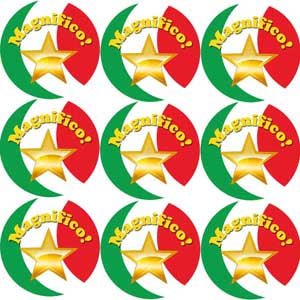 Magnifico! Italian Language School Reward Stickers/Merit Stickers