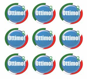 Ottimo! (Great) Italian Language School Reward Stickers/Merit Stickers