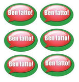 Ben Fatto! (Well done!) - Italian Language Oval Reward Stickers