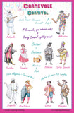 Italian Language Poster - Carnevale / Carnival: Bilingual Chart for Classroom and Playroom