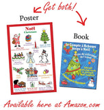 French language school poster: Christmas - Noel (bilingual French-English)