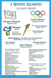 Italian Language Poster - Olympic Games Chart for Classroom and Playroom (Bilingual)