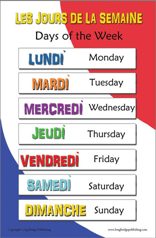 Colorful school poster made with high quality glossy paper Common Christmas words in French with English translation Each word is represented by an image for easy recognition Poster size:11x17 inches (A3 size, 420x297 mm)