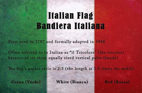 NEW!   Italian Flag Posters