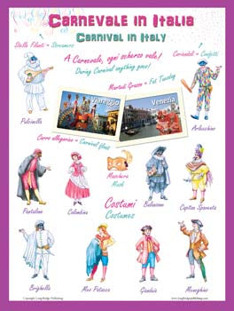 "LARGE bilingual posters:  ""Christmas in Italy"" and ""Carnival in Italy"""