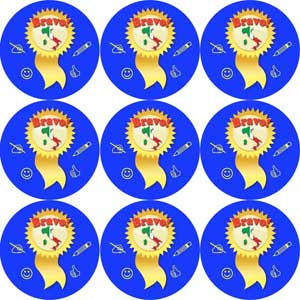 Bravo! Italian Language School Reward Stickers/Merit Stickers