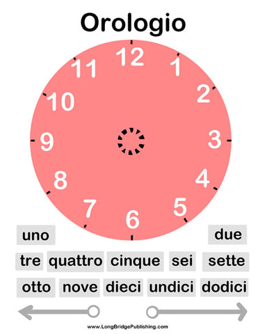 NEW! Telling Time in Italian: Clock Activity Page