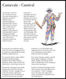 Carnevale - Carnival: bilingual reading page about this popular Italian celebration