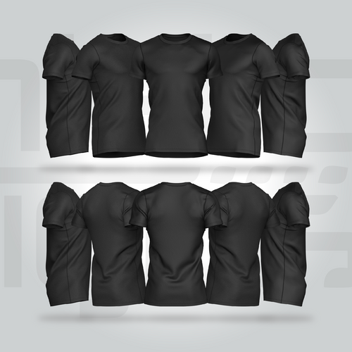 The Everyday Crew Neck Shirt - (Black Only)