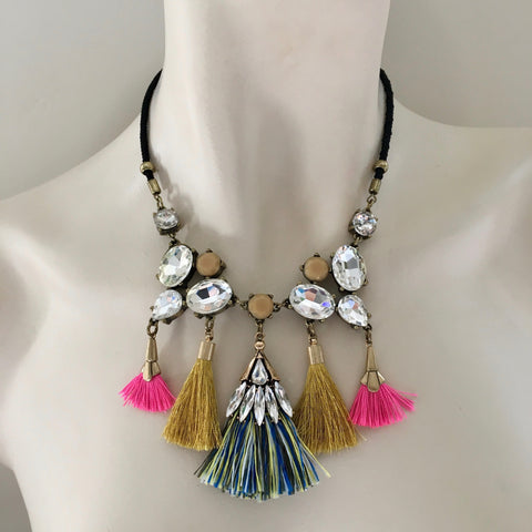 Multi tassel necklace