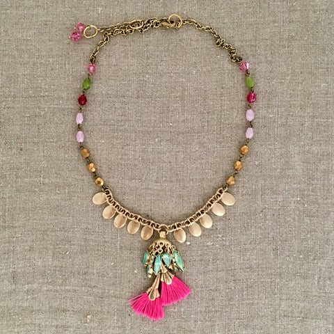 Festive Tassel Necklace