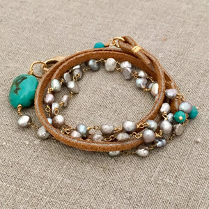 Fresh Water Pearls Wrap Bracelet