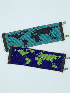 World Map Bracelets