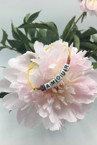 """amour"" bracelet Slogan Collection."