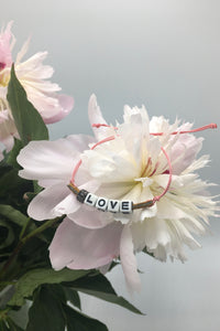 """love"" bracelet Slogan Collection."