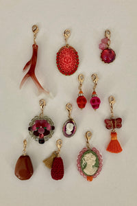 Orange/Fuschia Charms
