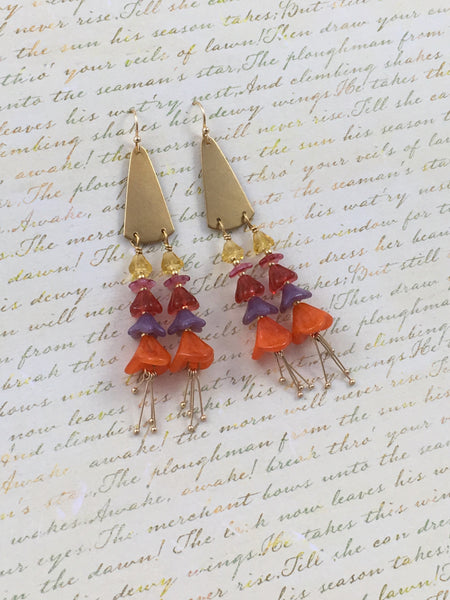 Amaryllis Drop Earrings