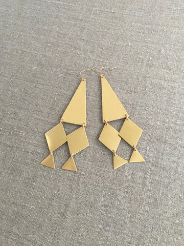 Lozange Statement Earrings