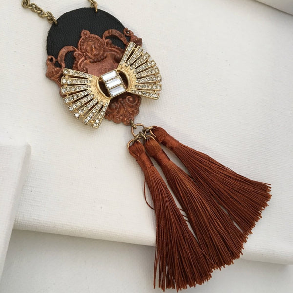 Florence Tassel Pendant Necklace