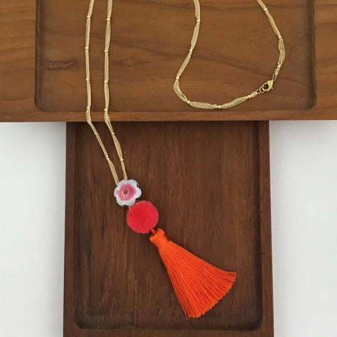 Japonica Tassel Necklace