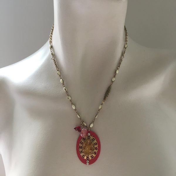 Oval Medallion Necklace