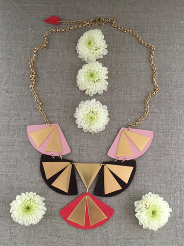 Geometric Fan Necklace