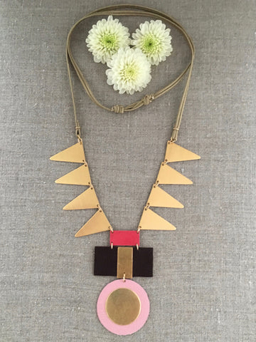 Geometric Medallion Necklace