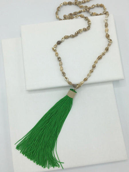 Neon Tassel Necklace