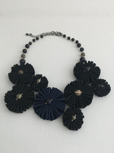 Pleated Flower Choker
