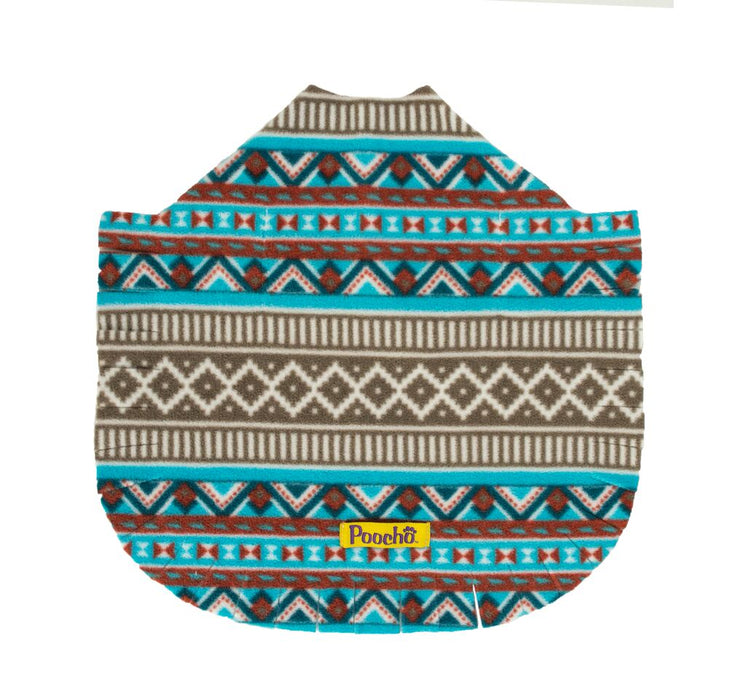 Aztec Teal Poncho