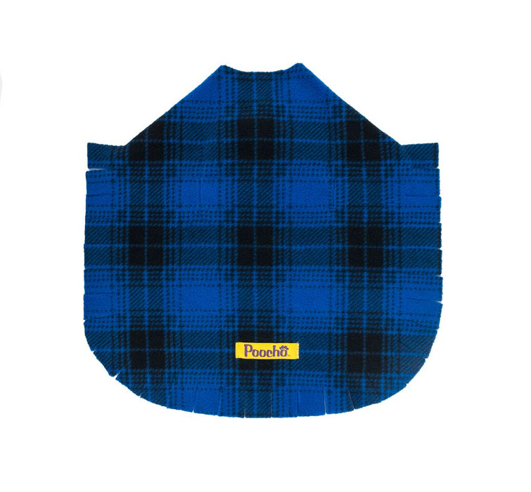 Blue Plaid Poncho w/ Bow