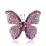 CNS Deals Brooch Pin Glamorous Purple Night Butterfly Gold Plated Trendy Brooch Pin V02