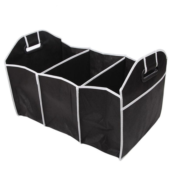 Collapsible Black Car Trunk Organizer with Carrying Handle