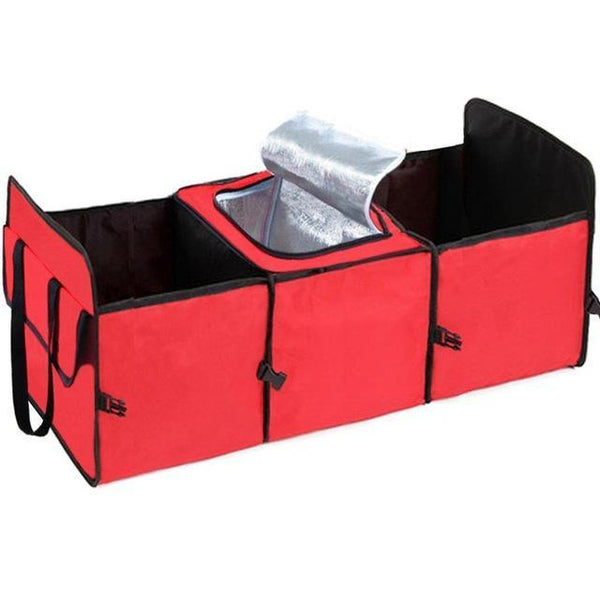 Ultimate Car Trunk Collapsible Storage Bag Organizer with Cooler Bag